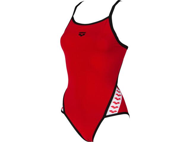 arena Team Stripe Super Fly Back Maillot de bain une pièce Femme, red/black